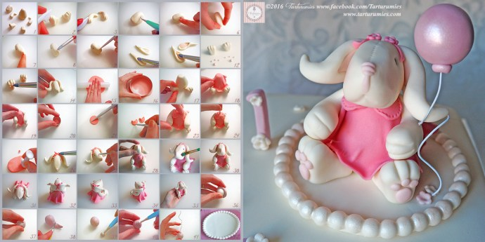 Step by Step of Bunny in Fondant