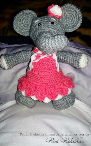 Patrón Elefantita Emma de Tarturumies versión Roxi Retamar