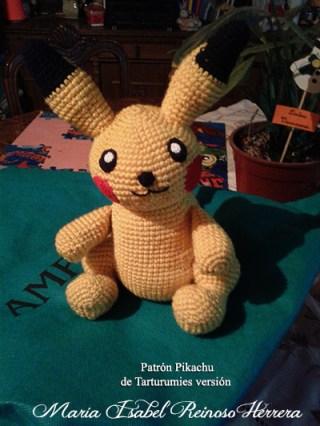 Patrón Pikachu de Tarturumies versión Maria Isabel Reinoso Herrera