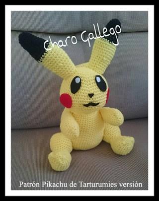 Patrón Pokémon Pikachu de Tarturumies versión Charo Gallego