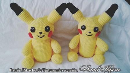 Patrón Pikachu de Tarturumies versión Vianet Nájera