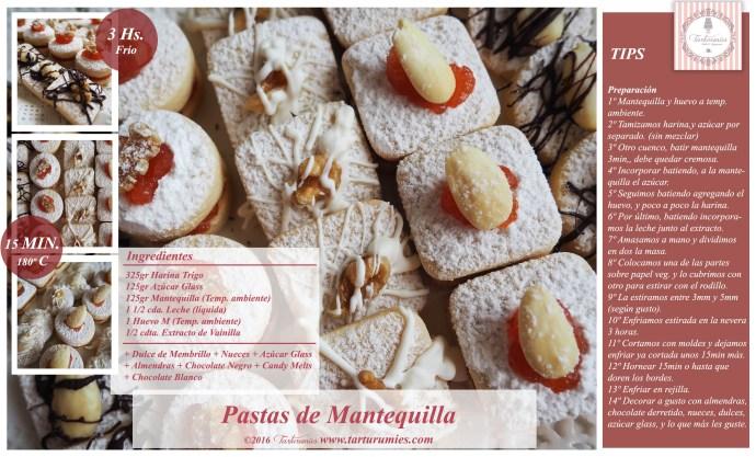 Receta Pastas de Mantequilla Tarturumies
