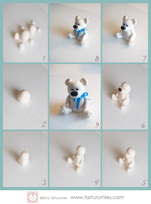 Tutorial Little Bear in Fondant by Tarturumies