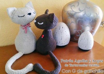 Patrón Gatitos Agatha y Argus de Tarturumies versión Con G de Ganchillo
