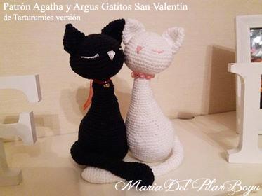 Patrón Gatitos Agatha y Argus de Tarturumies versión María Del Pilar Bogu