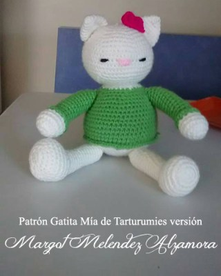 Patrón Gatita Mía de Tarturumies versión Margot Melendez Alzamora