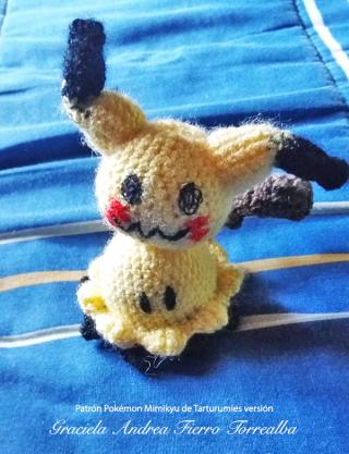 Patrón Pokémon Mimikyu de Tarturumies versión Graciela Andrea Fierro Torrealba