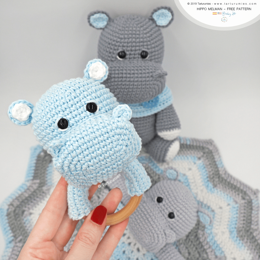 9 Cute Crochet Hippo Patterns - Amigurumi Tips - A More Crafty Life | 1080x1080