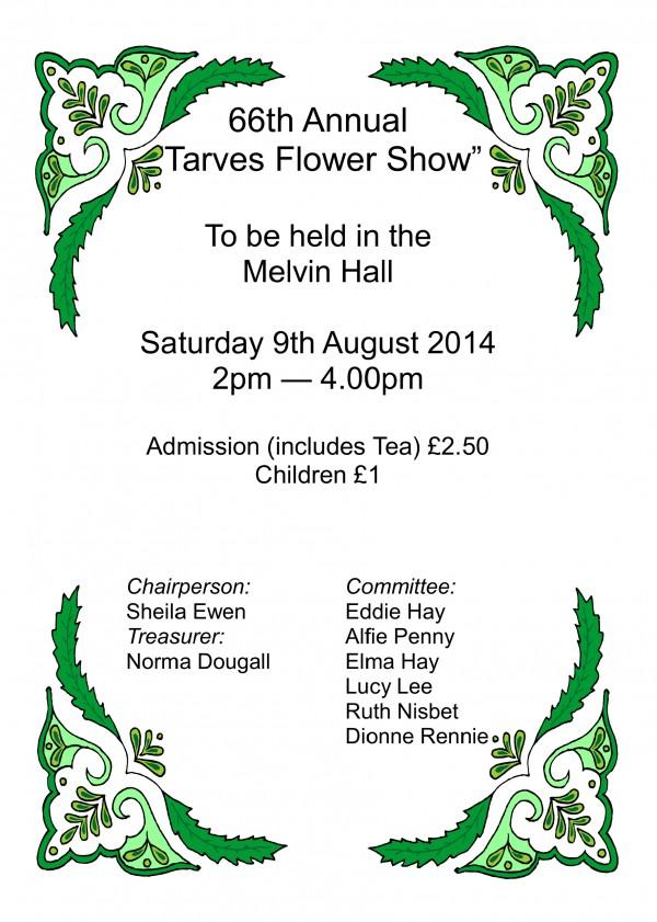 Tarves Flower Show-front