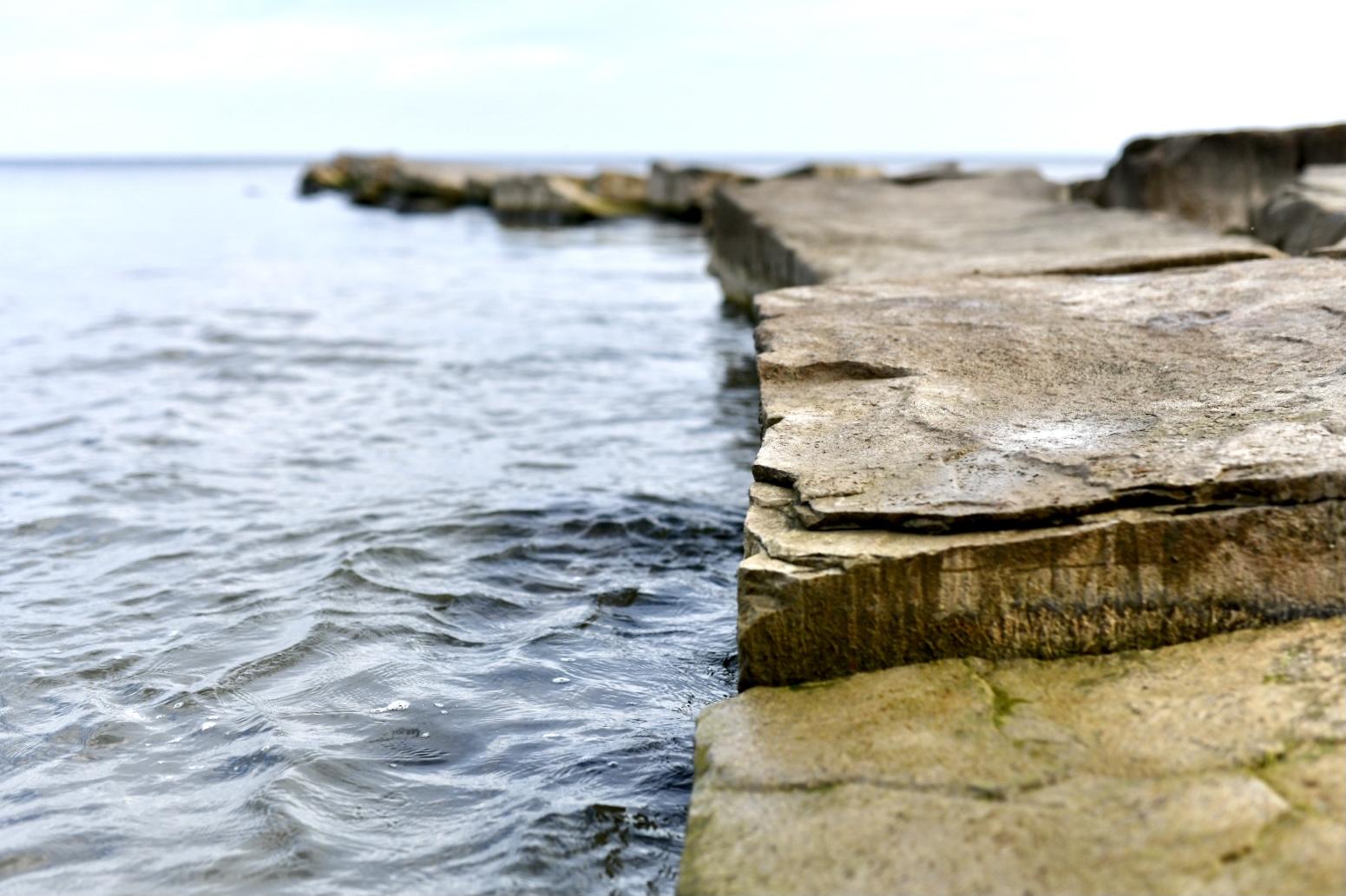 Lake Erie Pier by Taryn Okesson