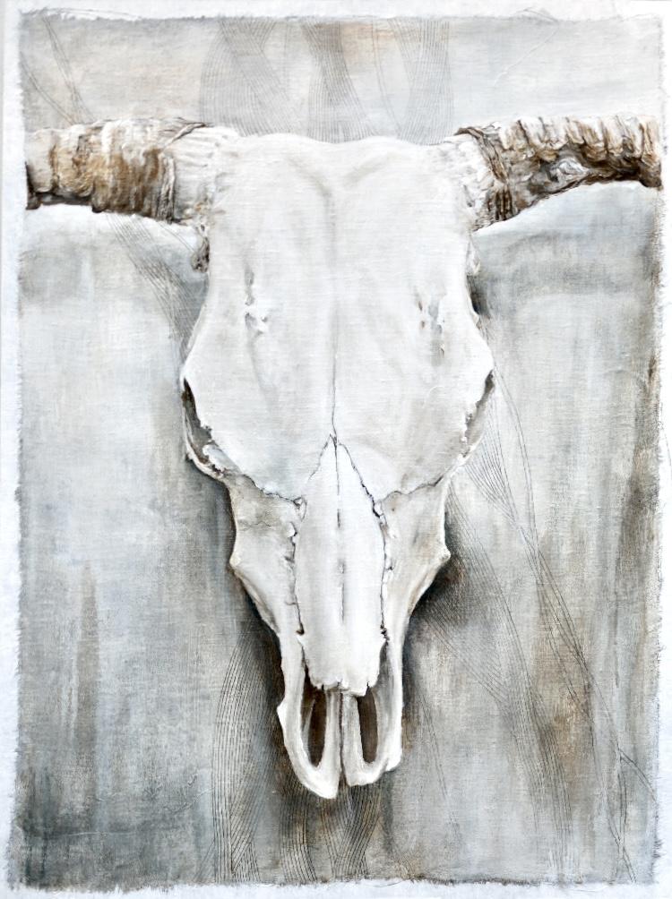 Acrylic Mixed-Media Painting by Taryn Okesson