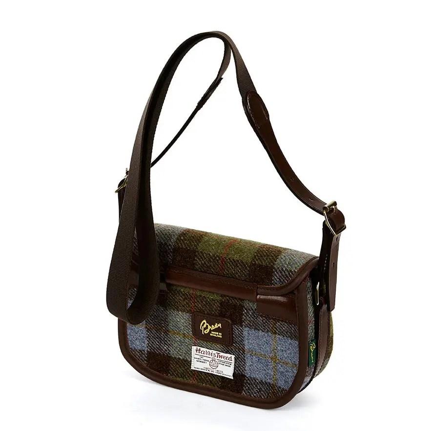 8R MOR Moorland Bag Blue Check Tweed BACK