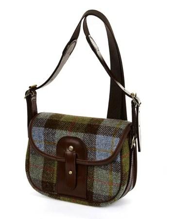8R MOR Moorland Bag Blue Check Tweed