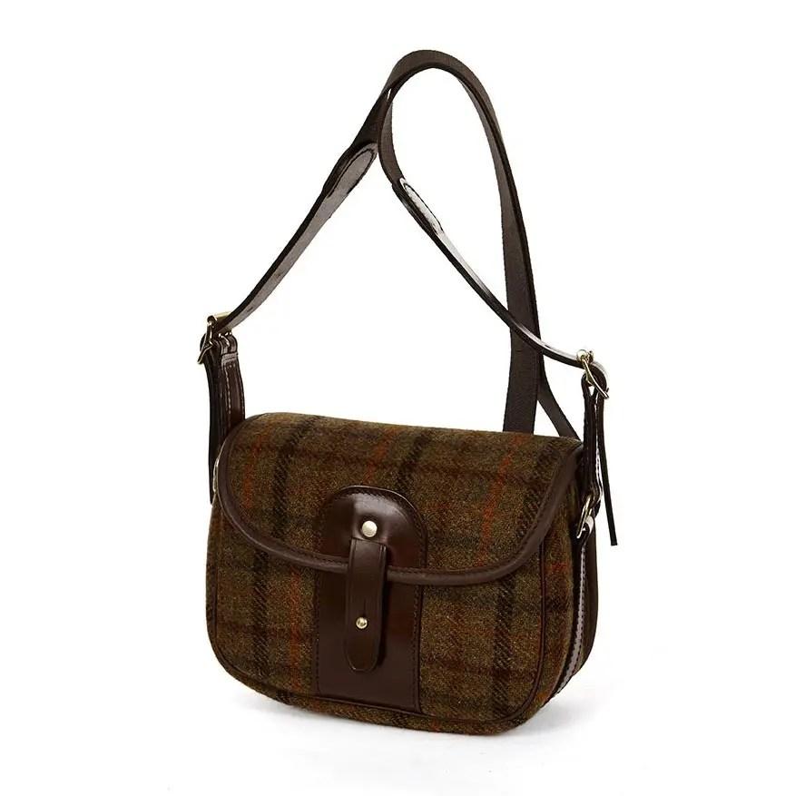 8R MOR Moorland Bag Tan Check Tweed