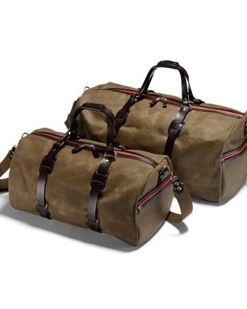 Vintage Range Duffle Holdall Olive in der Ausführung large und medium und in Canvas - olivefarben.