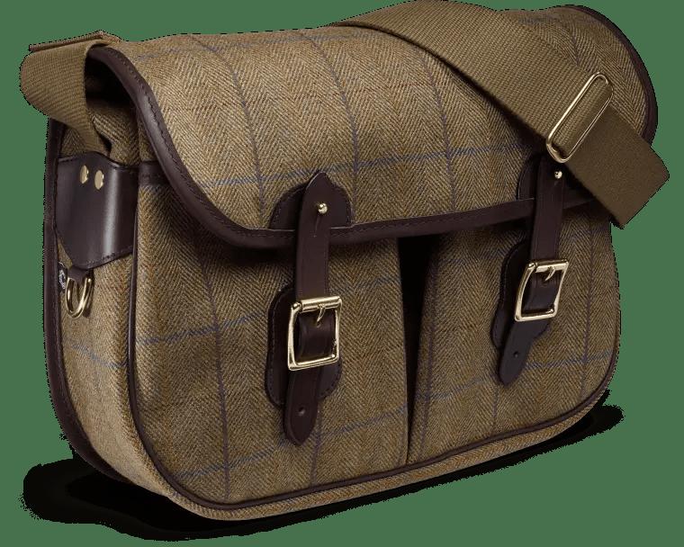 Die Helmsley Tweed Carryall in Burgundy Farben - eine feine englische Tasche.
