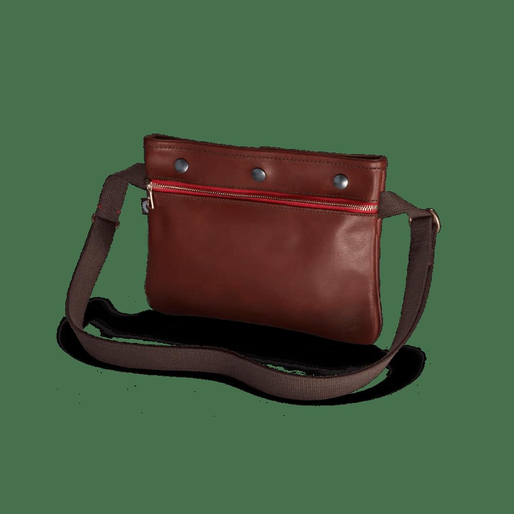 Portfarbene Vintage Sacocht Leder Tasche