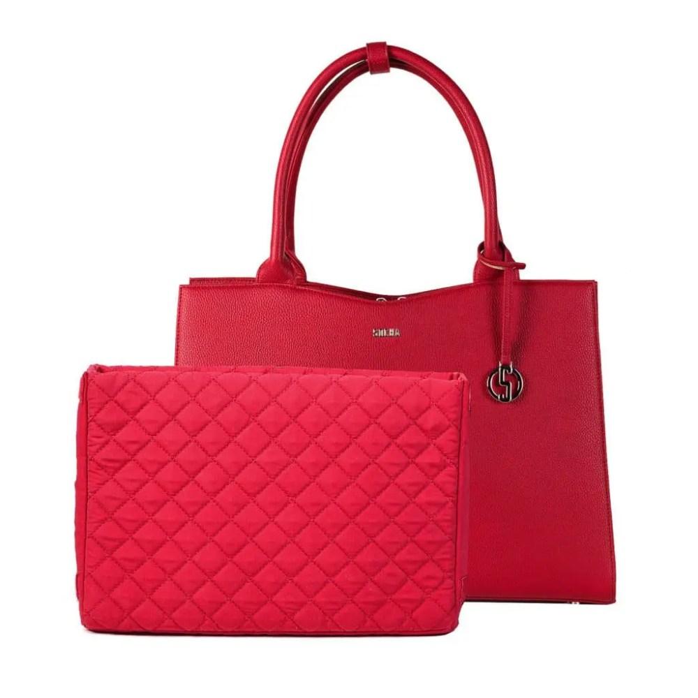 Business Tasche Straight Line red Laptopfach