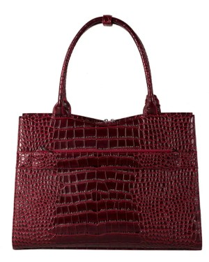 Socha Croco Burgundy – Businesstasche