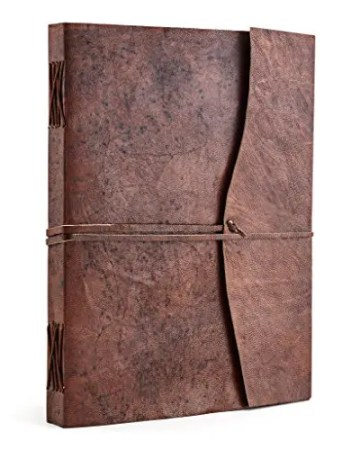 Tagebuch Leder Frontansicht