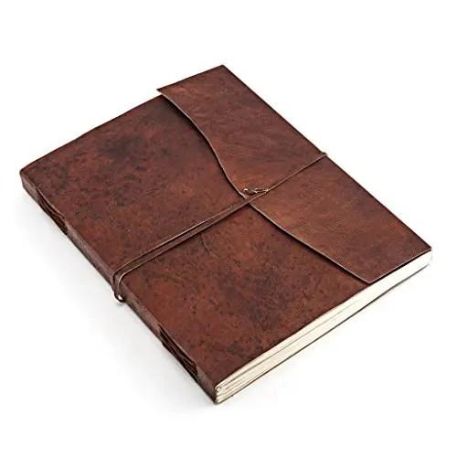 Tagebuch Leder flach
