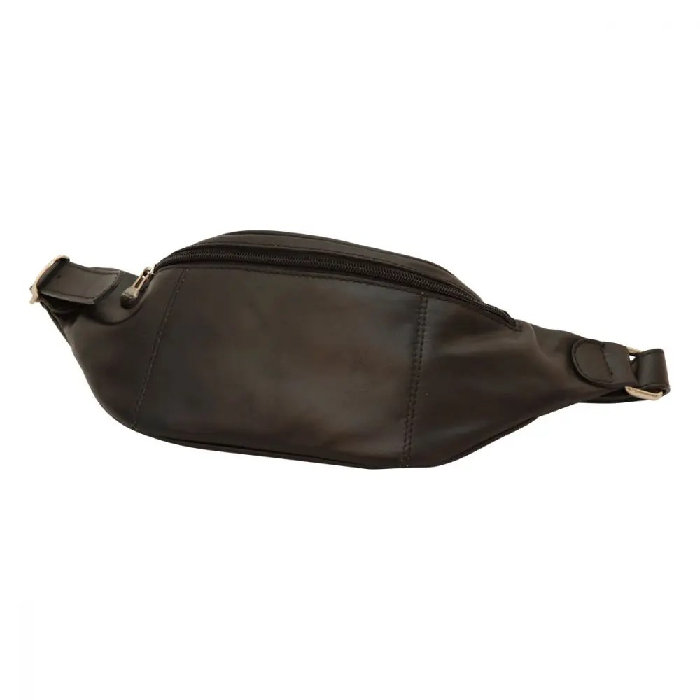 Ledergürteltasche Old Angler schwarz