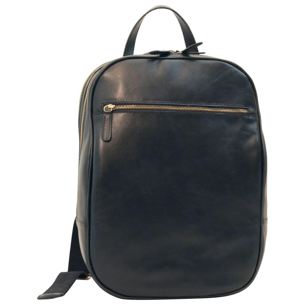 Lederrucksack 13 Zoll Laptop Black