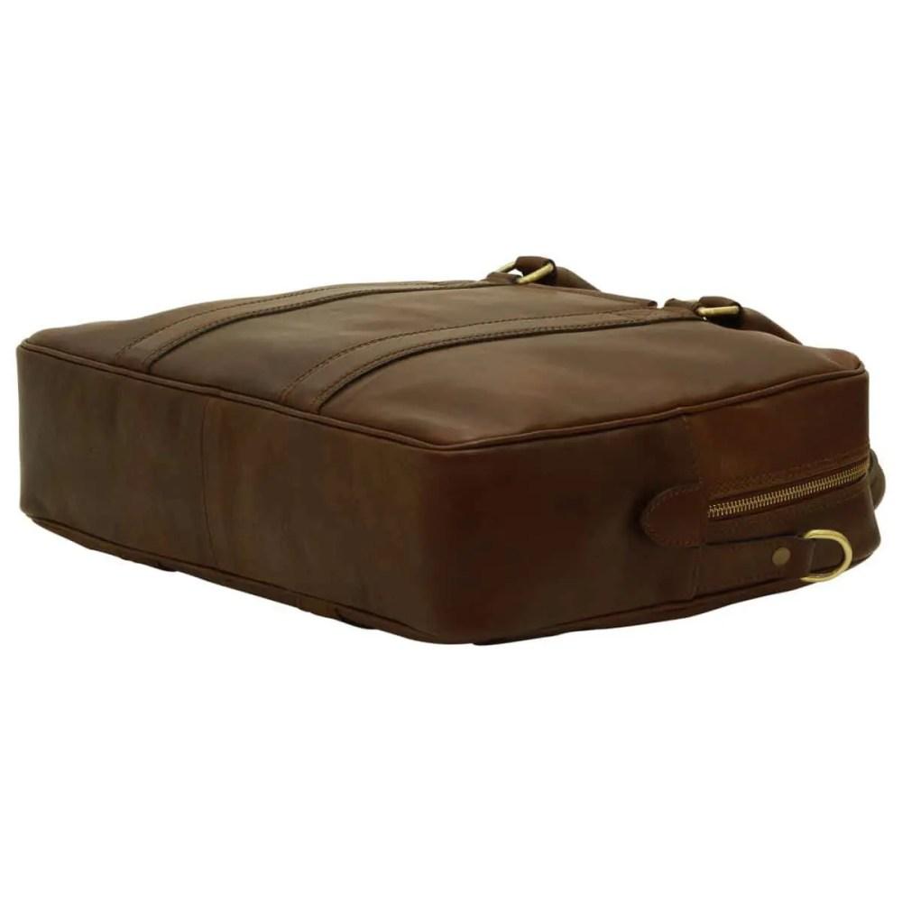Liegende Laptoptasche 13 Zoll Dunkelbraun