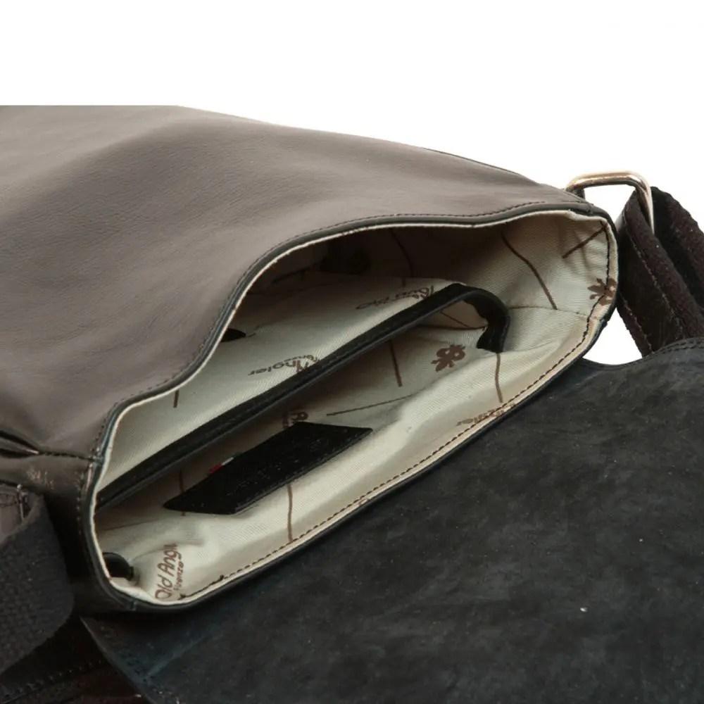 Offene IPad Tasche aus Leder Schwarz