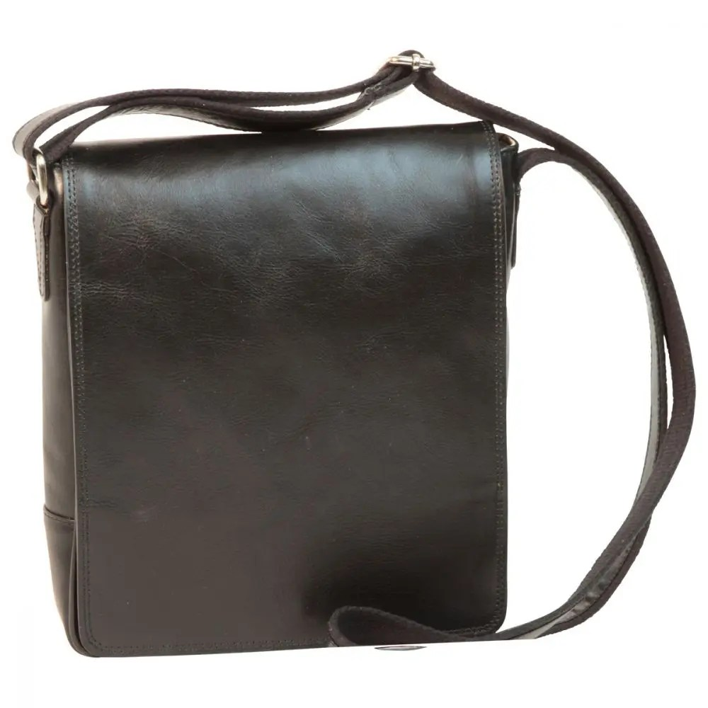 Front IPad Tasche aus Leder Schwarz