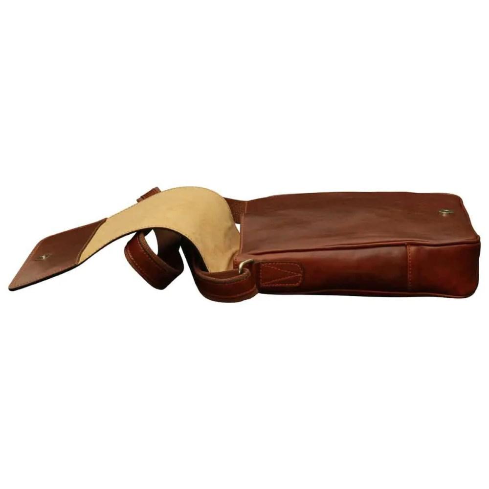 Flach IPad Tasche aus Leder Braun