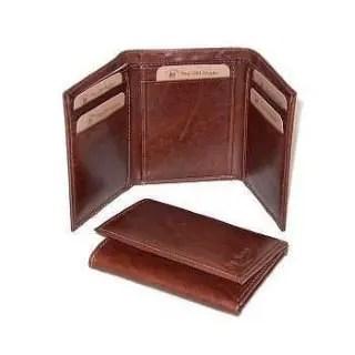 Leder Trifold Wallet braun