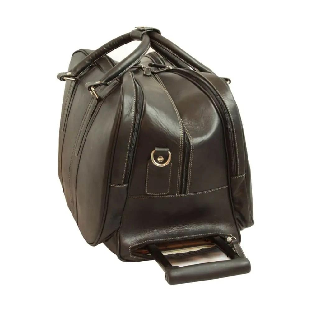 Quer stehende Reisetasche New World Collection Schwarz mit Griff