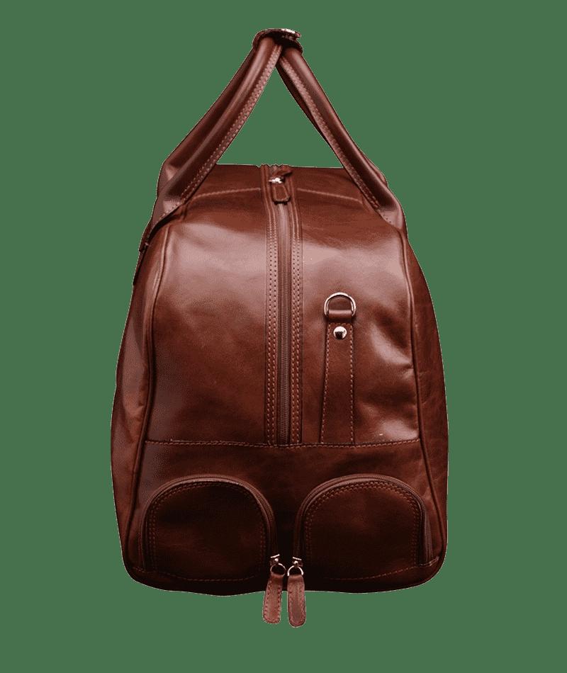 Seitenansicht Duffle Bag Golf Sport Braun