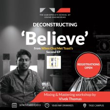 Mixing and Mastering Workshop by Vivek Thomas