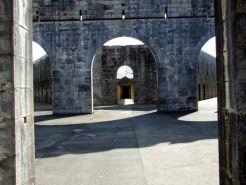 Looking down the twin corridors