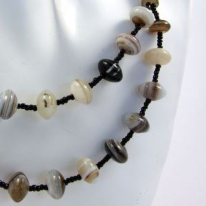 Banded Agate Gemstone Necklace