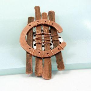 Handmade Copper Brooch