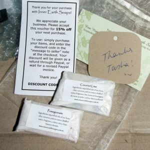 Tiny Soaps and Gift Voucher