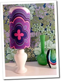 Purple Swirl Lamp by Retro Print Revival on Made It
