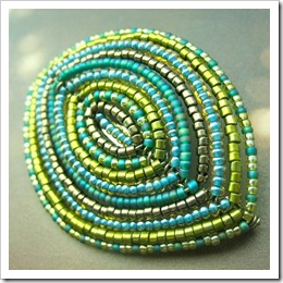 Broock - French Beaded Greens by Pardalote on Etsy