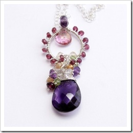 Jovana Gemstone Necklace by Poetry Jewelry on Etsy