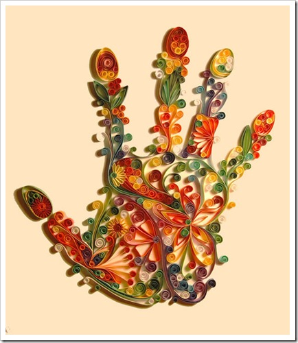 Quilling-art Hand