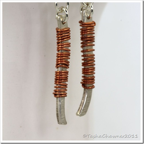 Sterling Silver and Thin Copper Wire Artisan Earrings_06