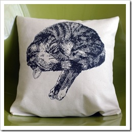 Tumbling Tiger Pillow