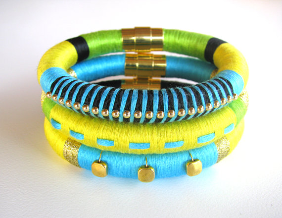 Citrus Twist Stack of Bracelets