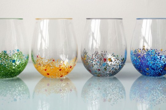 Add a Pop of Color to Your Glassware at Brit + Co.