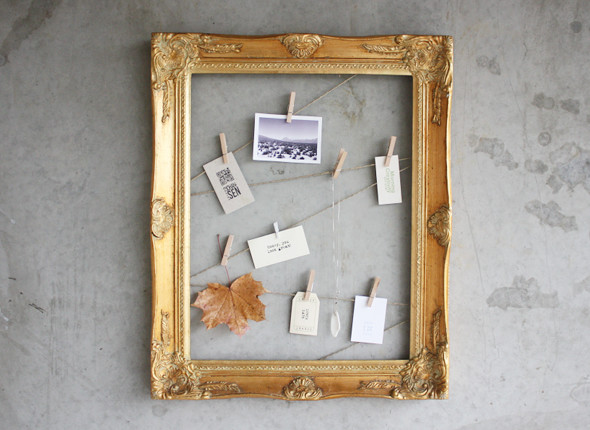 diy clothespin frame at Morning Creativity
