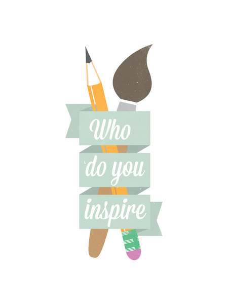 "Who Do You Inspire by ""a href=""http://www.etsy.com/shop/indurdesign"">Indur Design on Etsy"