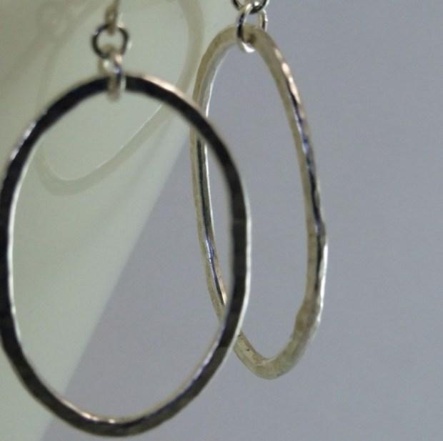 Fine Silver Oval Earrings
